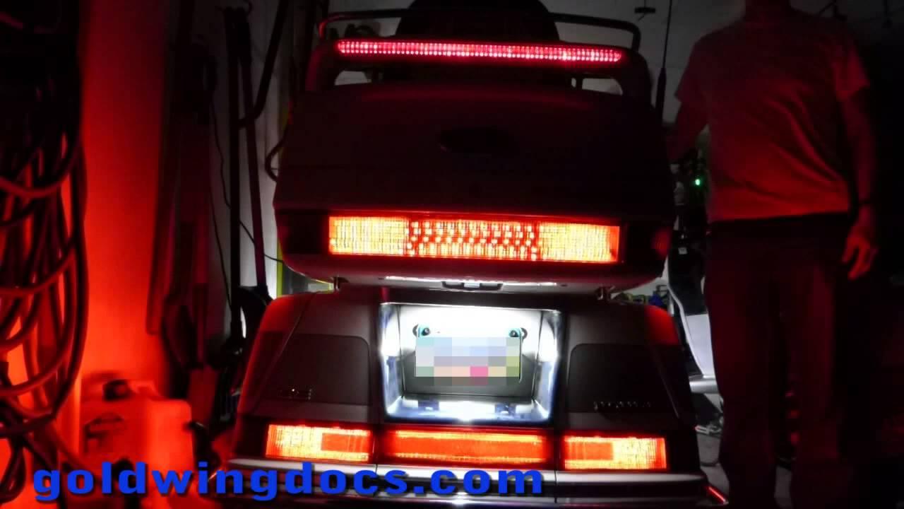 Adding Led Brake Lights To My Gl1500 Goldwing Youtube 2000 Wiring Diagram