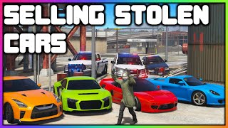 GTA 5 Roleplay - Selling Stolen Cars (COPS CAME) | RedlineRP