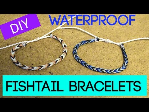 DIY Fishtail Braid Wax String Friendship Bracelet | Waterproof Bracelets Inspired By Pura Vida