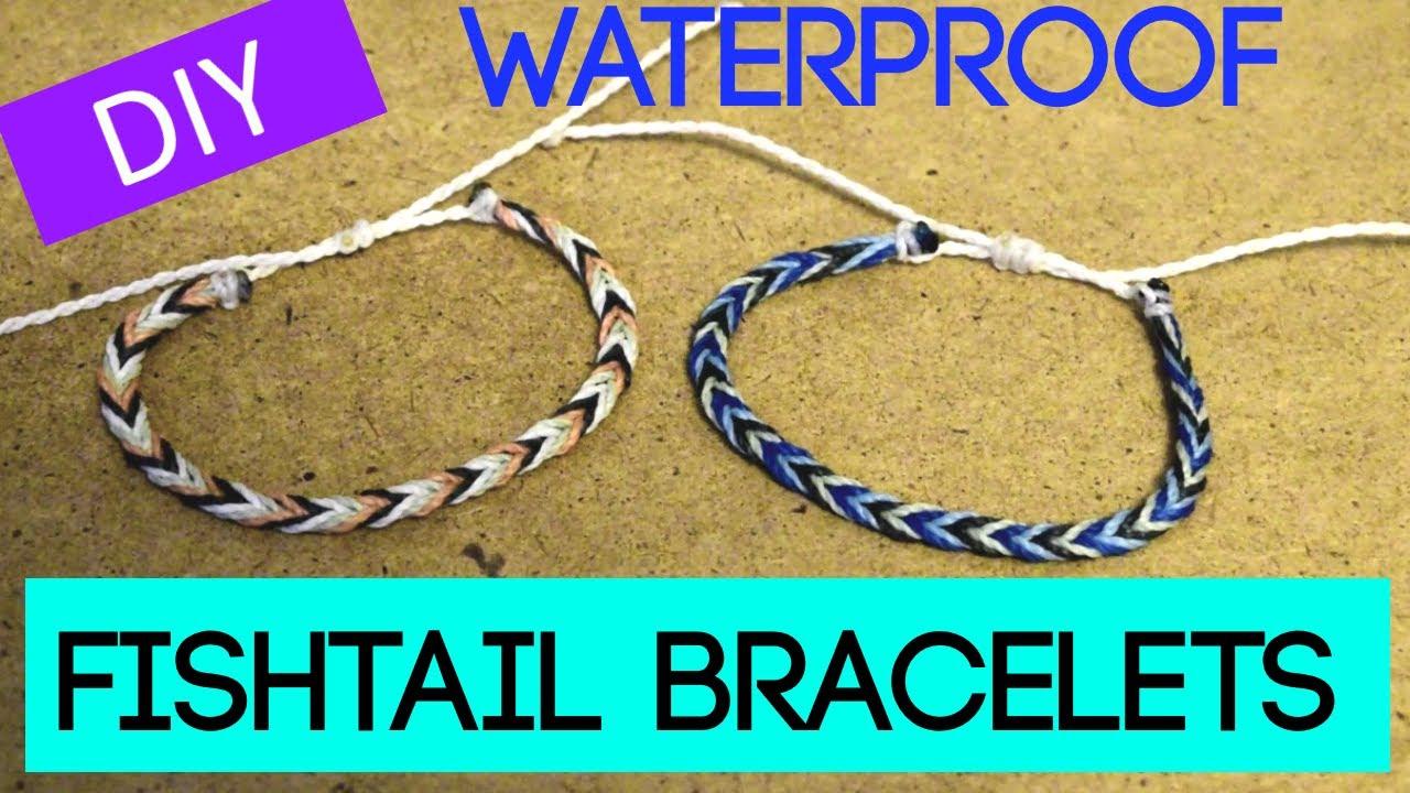 Diy Fishtail Braid Wax String Friendship Bracelet Waterproof Bracelets