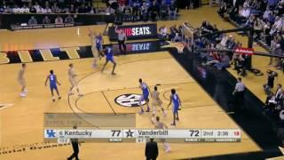 Kentucky vs Vanderbilt Basketball Highlights 1-10-17