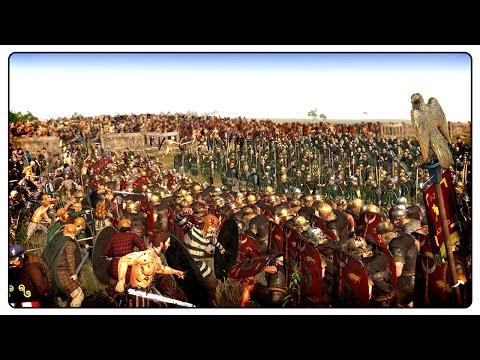 CAESAR STRIKES BACK - 17,000 Man Hill Defence - Ancient Empires Total War Mod