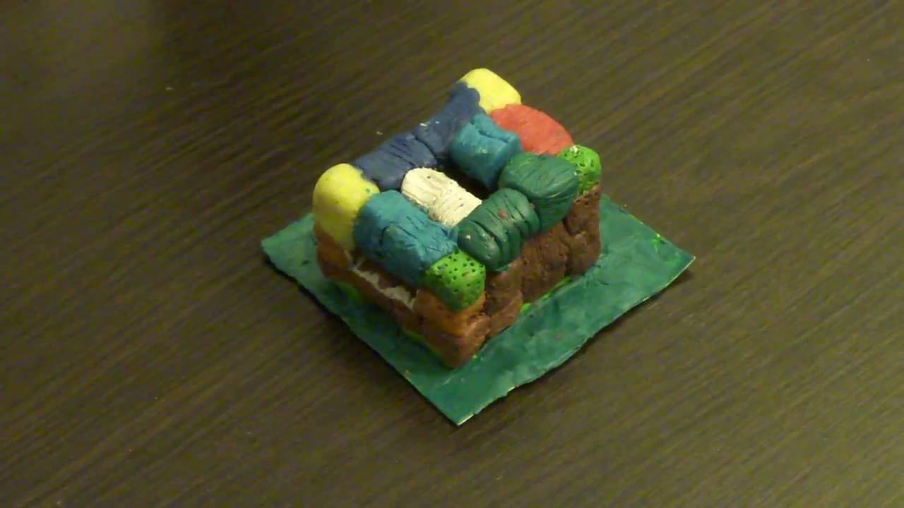 Как сделать из пластилина майнкрафт дом