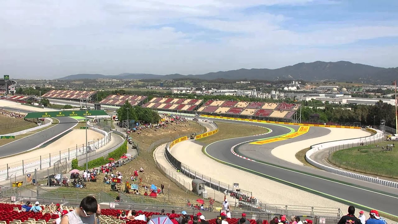 view from stand l at barcelona f1 grand prix 2014 youtube. Black Bedroom Furniture Sets. Home Design Ideas
