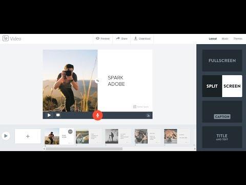 Spark Adobe - kolejne narzędzie do tworzenia nastrojowych filmów, czy clipów.