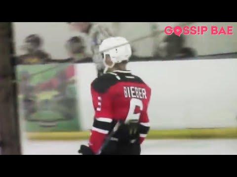 Selena Gomez Watches Justin Bieber Play Hockey