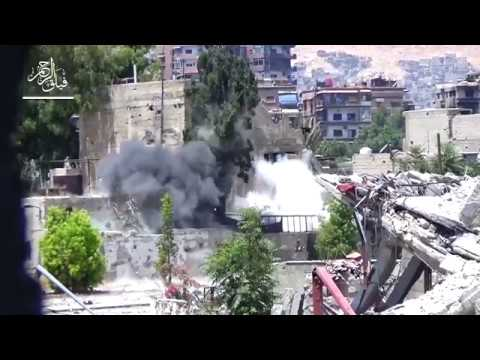 FSA forces hit regime 4th Division fortifications during heavy clashes on Ein Tarma
