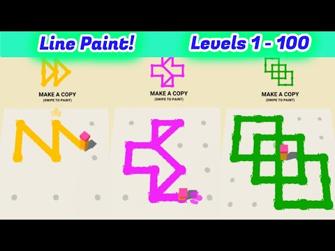 Line Paint! Level 1 - 100 By tastypill Gameplay Walkthrough | (IOS - Android)
