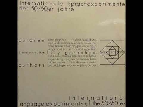 Lily Greenham - Internationale Sprachexperimente Der 50/60er Jahre / Tendentious Neo-Semantics