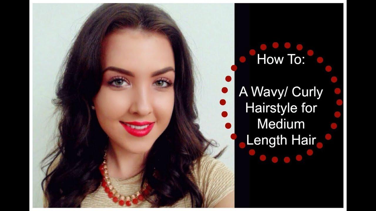 Wavy Curly Hairstyle For Medium Length Hair Using Hair
