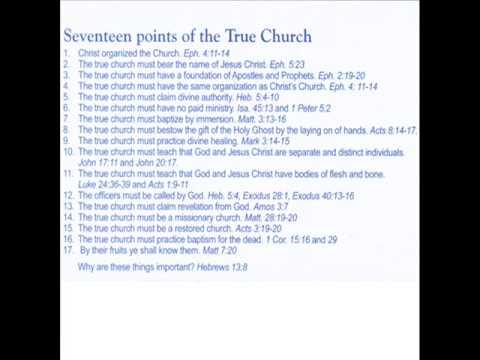 17 Points of the True Church - Floyd Weston
