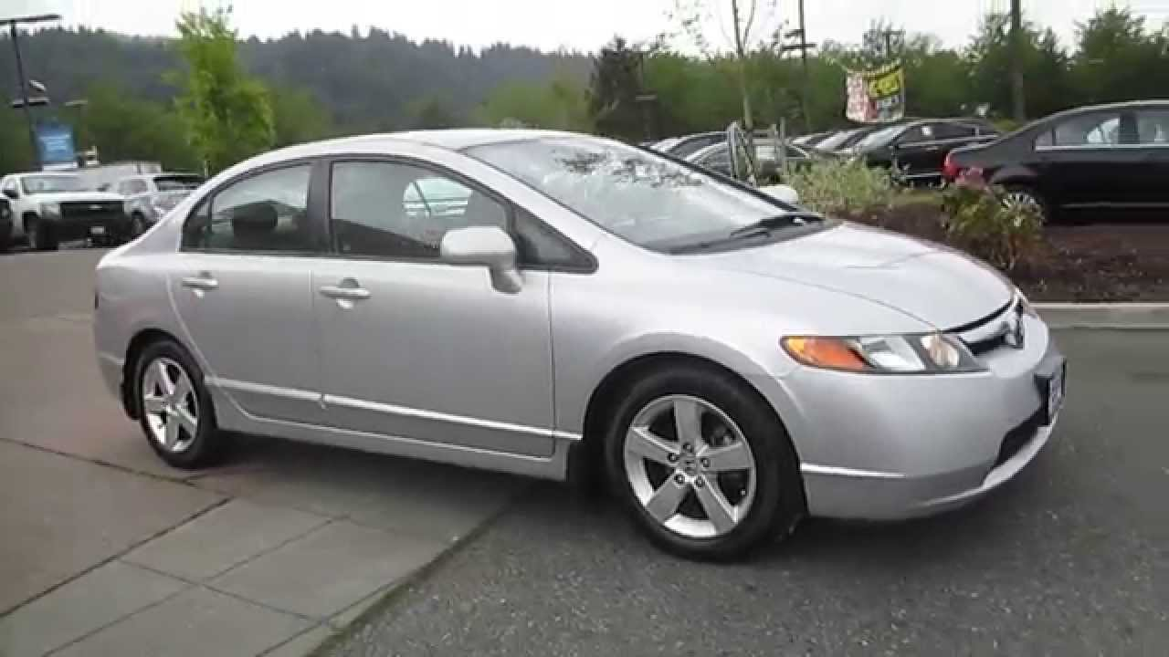 2006 honda civic silver stock 14 1452a walk around youtube. Black Bedroom Furniture Sets. Home Design Ideas
