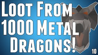 RuneScape 2007 - Loot From 1000 Iron/Steel Dragons (1000/1000) - Commentary