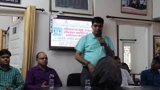 Mr. Shushil Kumar Tiwari delivering speech of digital banking and financial inclusion