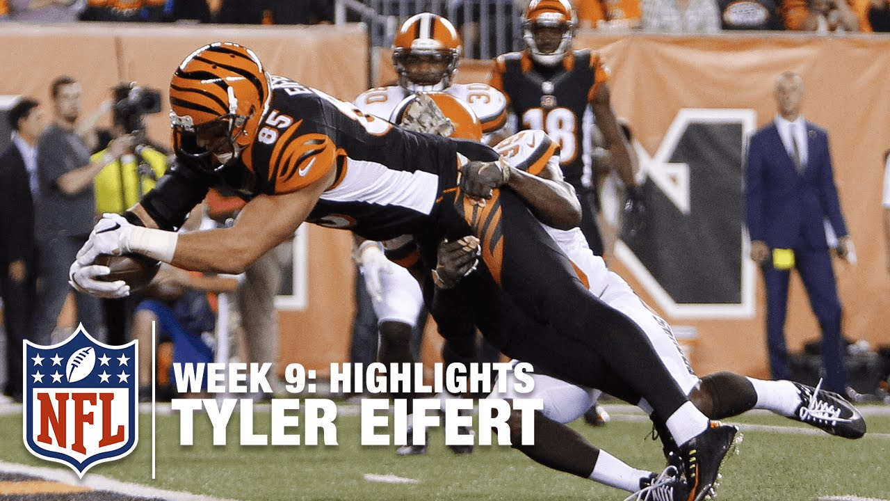 Tyler Eifert Highlights Week 9 Browns vs Bengals
