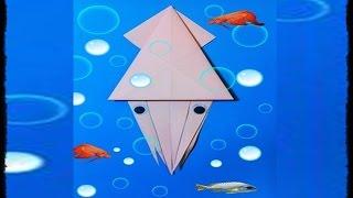 origami: como hacer un calamar- papiroflexia