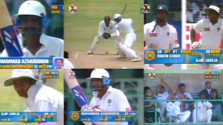 Mohammad Azharuddin & Ajay Jadeja UNDER PRESSURE KNOCK vs West Indies | 4th Match | Bridgetown, 1997