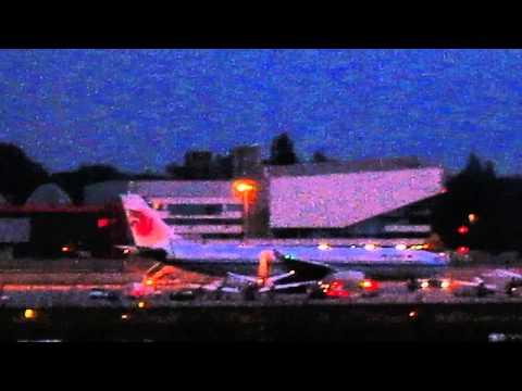 Le soir sur l'aéroport de Genève......