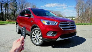 2017 Ford Escape Titanium EcoBoost 1.5L: Start Up, Test Drive, Walkaround and Review