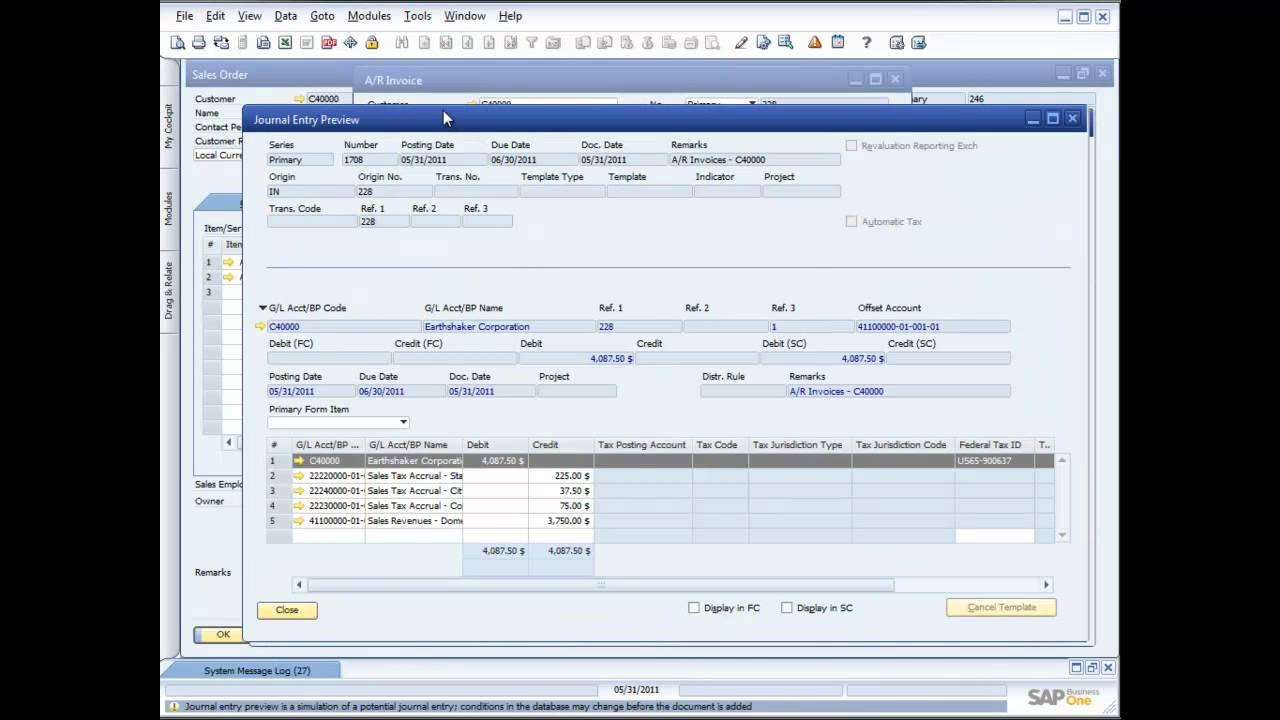 Demonstrating Sales Order Management In Sap Business One 8