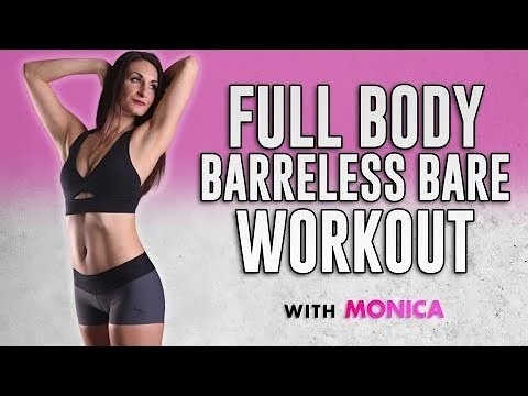 Total Body Shred! Cardio Barre Workout-- Burn Fat &  Sculpt! No Equipment, 25 Mins Fitness At Home