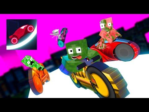 Monster School : RACE.iO CHALLENGE - Minecraft Animation