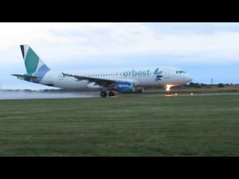 Orbest Airline Take-Off    Halmstad City Airport