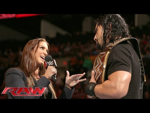 Roman Reigns doesn\'t back down to the McMahon family: Raw, January 4, 2016