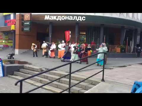 Hindu people foreign country celebrating their own religious view at Novosibirsk, Siberia, RUSSIA