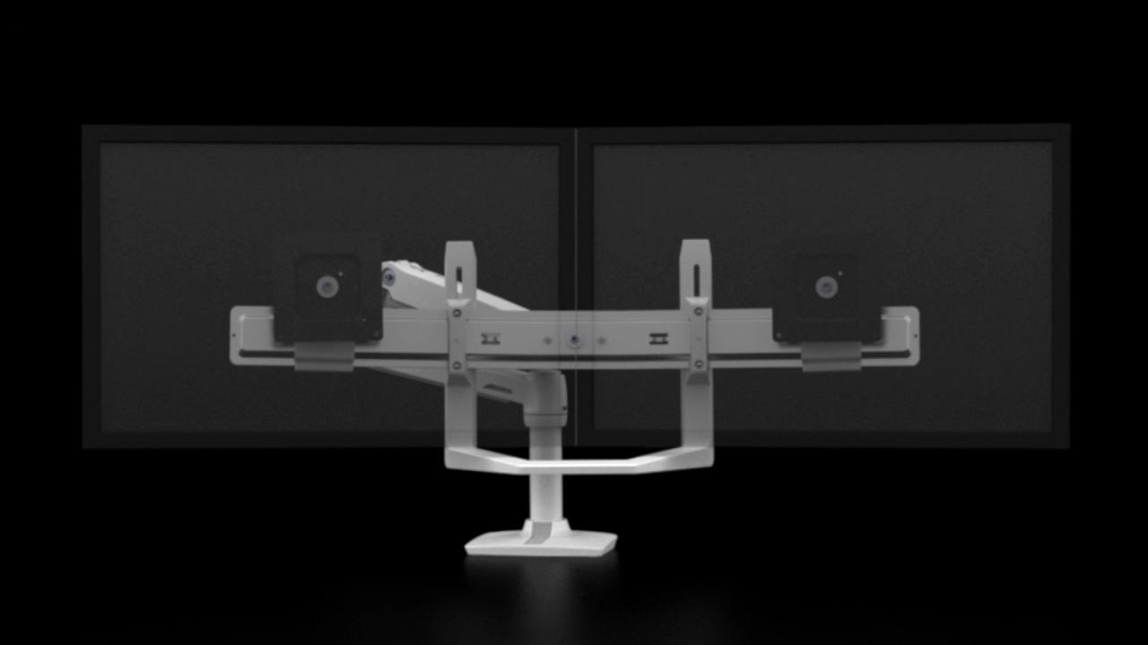 ergotron lx desk dual direct arm full motion redoubled youtube