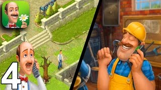 GARDENSCAPES NEW ACRES Walkthrough Gameplay Part 4 - Day 4 (iOS Android)