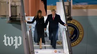 Trump lands at Paris' Orly Airport