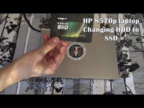 Hp 8570p laptop changing HDD to SSD - YouTube