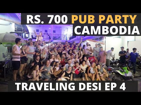 Episode 4 - Rs. 700 Pub Crawl Party Of Funky Flashpacker Hostel In Cambodia - All You Need To Know