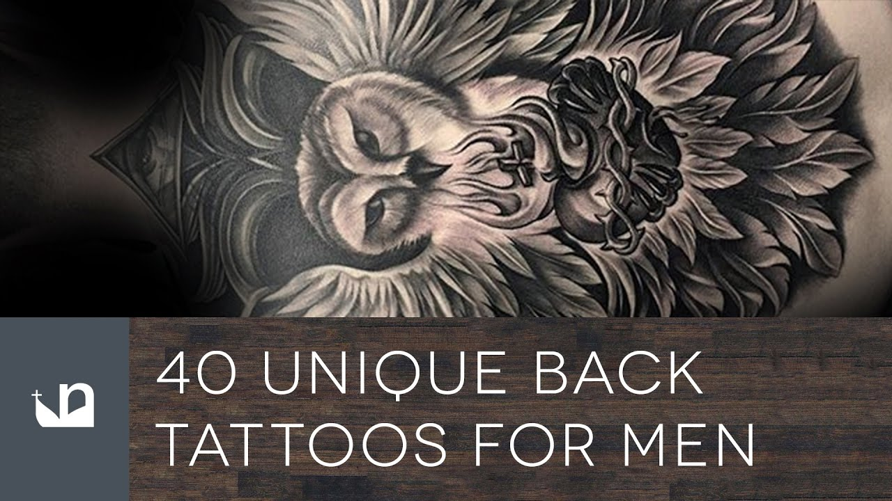 40 Unique Back Tattoos For Men – Manly Body Art Design Ideas