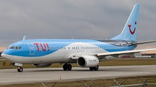 As the busy winter season is upon us, sunwing leased 2 tui b738, here first out of landing/ departing on a ferry flight. she came in from manche...