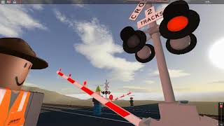 ROBLOX - Man gets hit by train