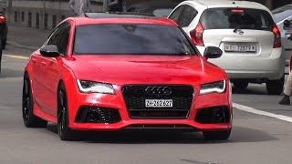 extrem loud audi rs7 w straight pipes milltek exhaust brutal sounds