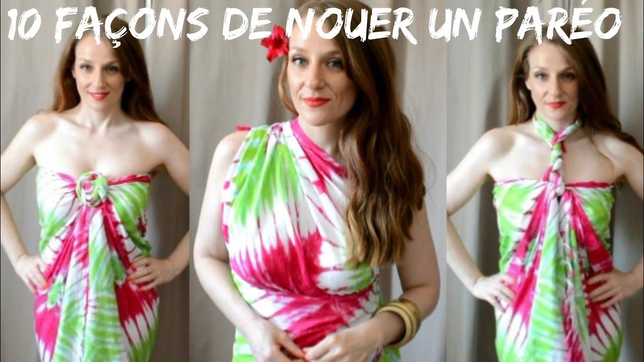 Comment nouer un par o en robe ou top d 39 t youtube - Differentes facons de porter un foulard ...