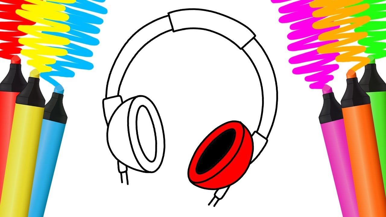 Como Desenhar E Colorir Fones De Ouvido Pintar E Aprender Para