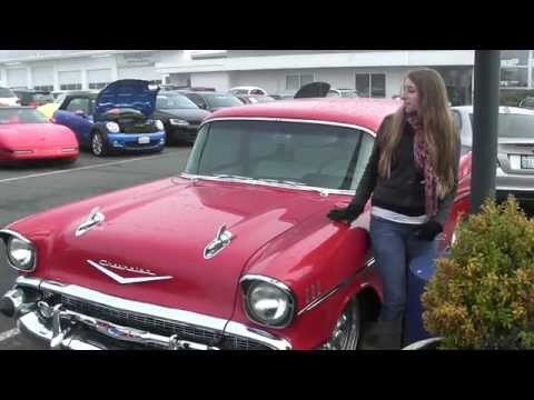 Virtual Video Walk around of a red 1957 Chevrolet 210 HOT ROD Wagon
