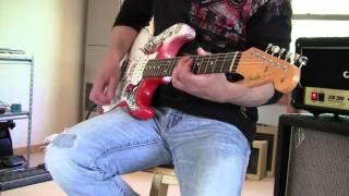 1967 Jimi Hendrix Monterey 1967 Replica USA Fender Strat www.eddievegas.com Eddie Vegas
