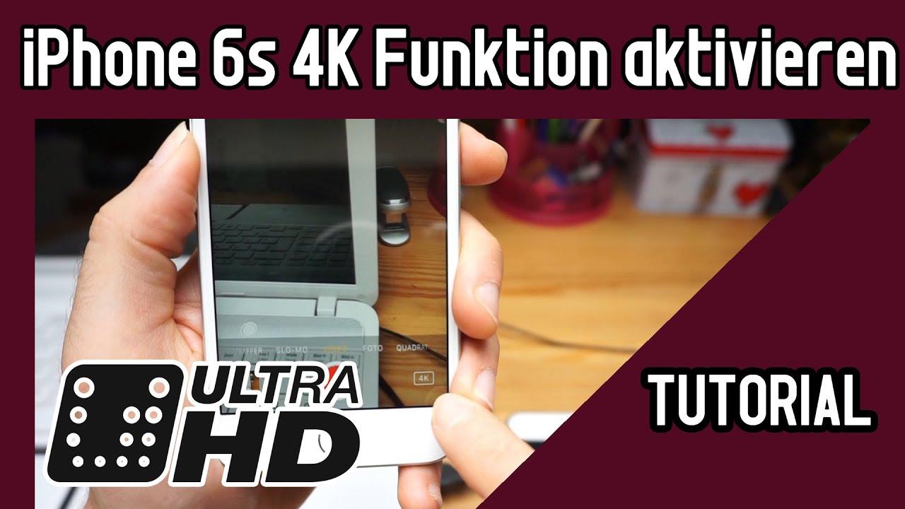 iPhone 6s 4K einstellen | Tutorial: 4K Videos machen mit dem iPhone ...