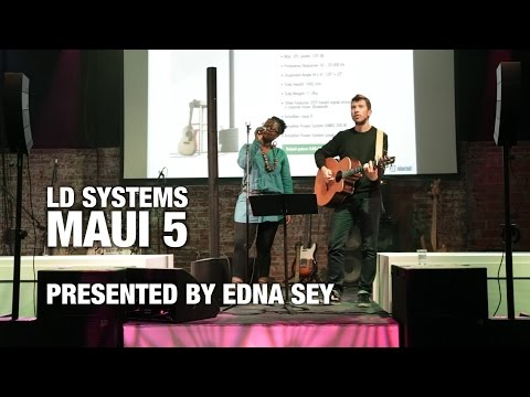 LD Systems MAUI 5 - Ultra Portable Column PA System Live @ Adam Hall Showroom Barcelona
