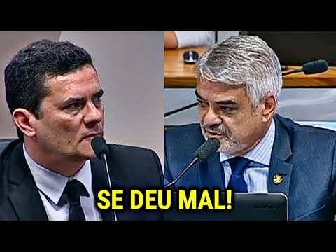 Senador petista tenta intimidar Sérgio Moro e se dá mal