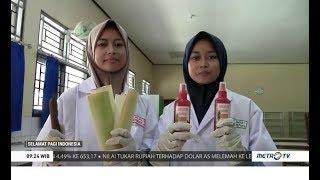 Siswa sman 1 tahunan jepara membuat hand sanitizer berbahan pelepah pisang