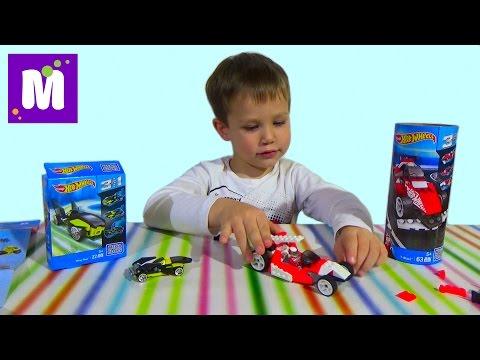 Хотвилс Мегаблокс конструктор собираем машинки распаковка игрушек