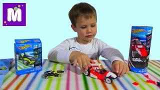 Хотвилс Мегаблокс конструктор собираем машинки распаковка игрушек Hot Wheels Mega Bloks set unboxing