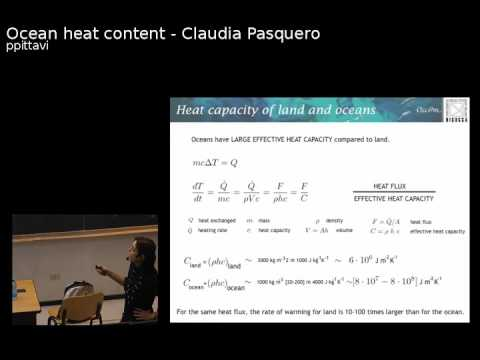 "Claudia Pasquero: ""Ocean heat content and its role on some climatic processes"""