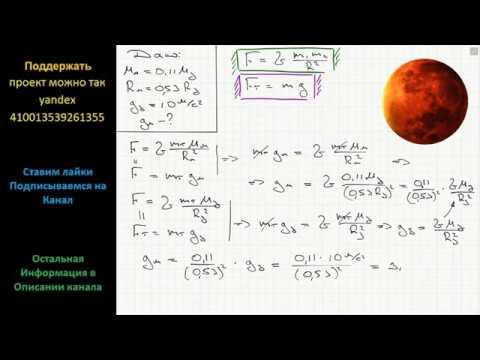 Физика Найдите ускорение свободного падения на поверхности Марса, если его масса составляет 11%
